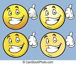 Thumbs Up - Cartoon Smiley Set
