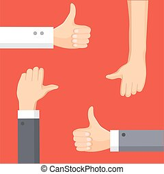 Thumbs Up cartoon vector illustration