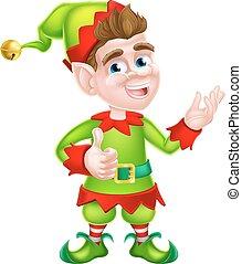 Thumbs Up Christmas Elf