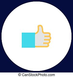 Thumbs up computer symbol