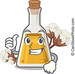 Thumbs up cottonseed oil isolated in the character vector ...