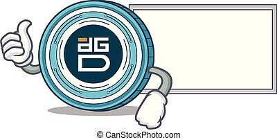Thumbs up DigixDAO coin character cartoon