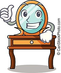 Thumbs up dressing table character cartoon