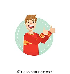Thumbs Up Emotion Body Language Illustration