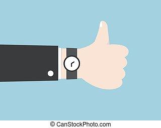 Thumbs Up flat design, vector EPS10.