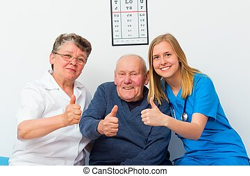 Thumbs Up For Elderly Homecare