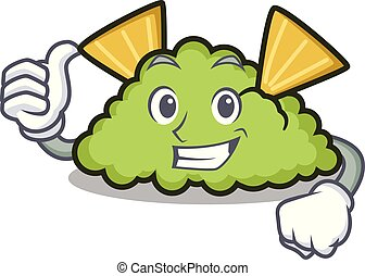 Thumbs up guacamole character cartoon style