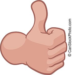 Thumbs Up Hand Cartoon Icon