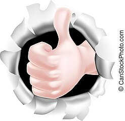 Thumbs Up Hand Concept