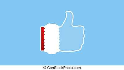 thumbs up hand icon silhouette 3d-illustration