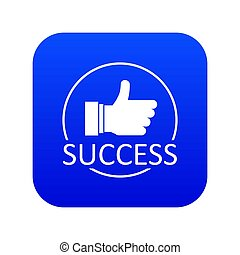 Thumbs up icon blue