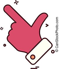 Thumbs up icon design vector