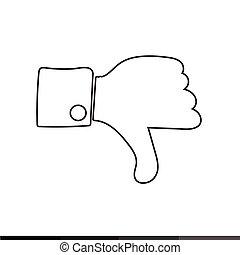 Thumbs up icon ,  Like icon , dislike icon illustration design