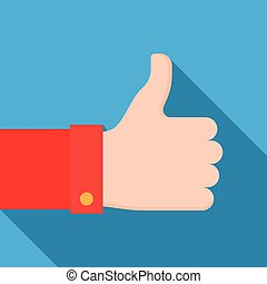 thumbs up icon. Social network likes, approval, customers ...
