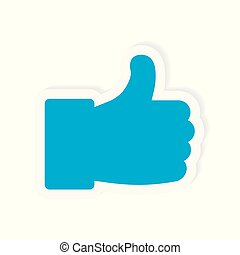 thumbs up icon- vector illustration