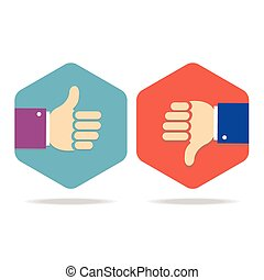 Thumbs Up Icons Set. Vector