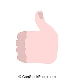 Thumbs up isolated. Brutal Man's Like symbol on white background