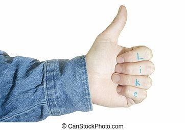 Thumbs up like gesture