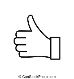 Thumbs up. Like vector icon for graphic design, logo, web site, social media, mobile app, ui illustration