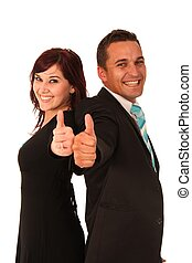 Thumbs Up Man and Woman