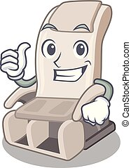 Thumbs up massage chair in the mascot shape
