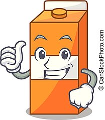 Thumbs up package juice character cartoon