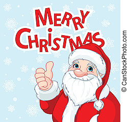 Thumbs Up Santa Claus greeting car