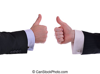 thumbs up - image of two hands giving thumbs up sign