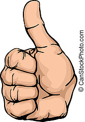 thumbs-up an illustration of a human hand giving the thumbs-up