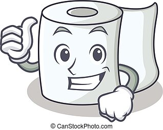 Thumbs up tissue character cartoon style