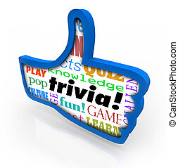 Thumbs Up Trivia Game Winner Feedback Share Social Network...