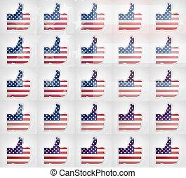 thumbs up USA i like it design