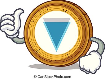 Thumbs up Verge coin character cartoon