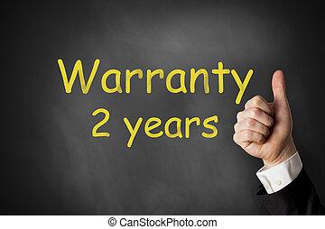 thumbs up warranty two years chalkboard