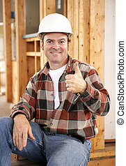 Thumbsup on Construction Site