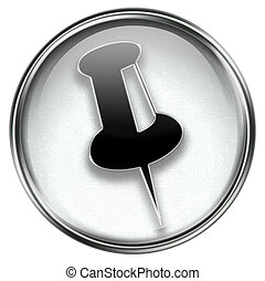 thumbtack icon grey