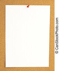 thumbtack on billboard - extreme closeup of thumbtack and...