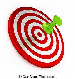 Thumbtack On Red Target
