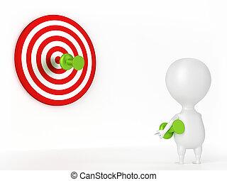 Thumbtack, Target and Character