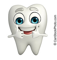 thumbup, carácter, dientes
