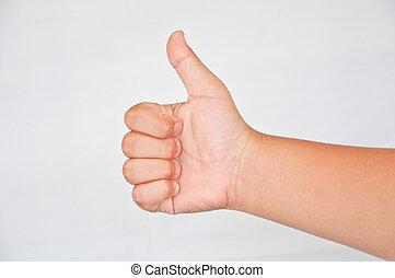 thump from children hand