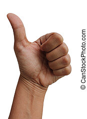 Thump Up Gesture (Expressing Satisfaction, Approvement, ...