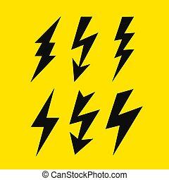 Thunder bolt vector icon