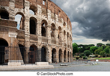 Thunder clouds over Colosseum