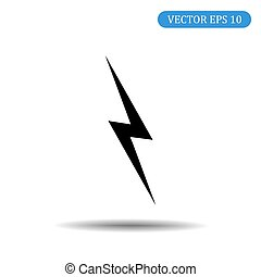 Thunder icon.Vector illustration in flat style. Eps 10