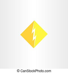 thunder logo icon vector symbol sign