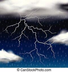 Thunder storm at night