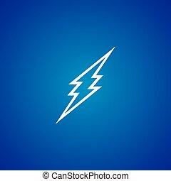 thunder storm sign theme vector art illustration