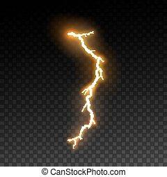 thunderbolt, effect, lightning, visueel, ontwerp, of