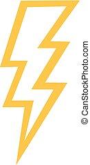 Thunderbolt outline